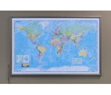 Weltkarte Deutsch als LED-Leuchtkarte