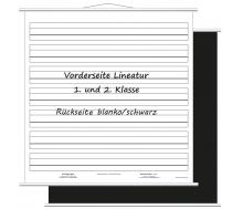 Aufrollbare Whiteboardtafel Lineatur für 1. und 2. Klasse (magnethaftend)