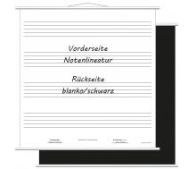 Aufrollbare Whiteboard Notentafel (magenthaftend)