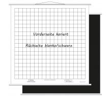 Aufrollbare Whiteboardtafel kariert (magnethaftend)