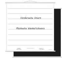 Aufrollbare Whiteboardtafel liniert (magnethaftend)