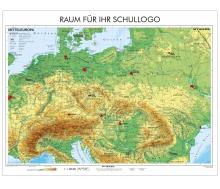 XXL-Brandschutz-Karte Mitteleuropa physisch