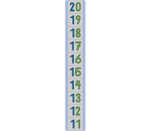 """Bodenmatte """"Zahlenstrahl 11-20"""""""