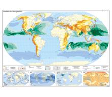 Handkarte Weltkarte der Naturgefahren Set