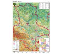 Handkarte Sachsen-Anhalt physisch - 25 Stück