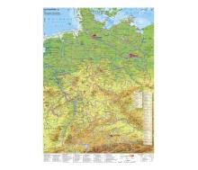 Deutschland physisch mit UNESCO-Welterbestätten und Nationalparks - Poster