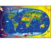 Fototapete Kinderweltkarte