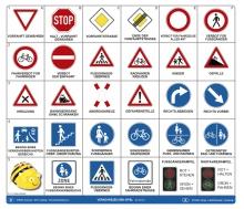 Bee Bot-Matte Verkehrszeichen