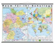 """Deutschland, Europa und die Welt"""" XXL Brandschutzkarte"""
