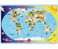 "Lernpuzzle XL ""Tierweltkarte"""