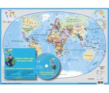 Die Welt / Kinderweltkarte mit Musik-CD