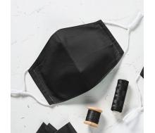 Mund- & Nasenmaske Easy gesäumt-schwarz